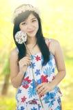 Adolescente dulce en la naturaleza Fotografía de archivo