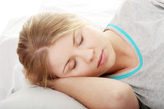 Adolescente durmiente Fotografía de archivo
