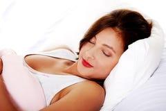Adolescente durmiente. Foto de archivo libre de regalías