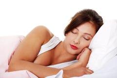 Adolescente durmiente. Imagen de archivo