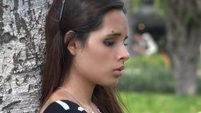 Adolescente e depressione della ragazza stock footage