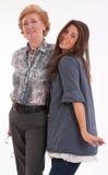 Adolescente e mulheres superiores Fotografia de Stock