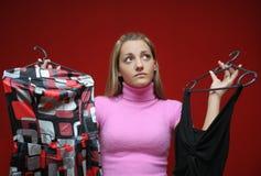 Adolescente e vestidos Imagens de Stock Royalty Free