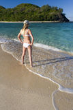 Adolescente el vacaciones en Fiji Foto de archivo libre de regalías