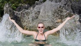 Adolescente el vacaciones - Fiji Imagen de archivo libre de regalías