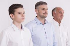 Adolescente elegante com seus pai e avô Imagem de Stock