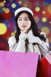 Adolescente elegante con los panieres Fotografía de archivo