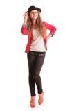 Adolescente elegante de risa Imagen de archivo libre de regalías