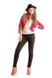 Adolescente elegante de risa Foto de archivo libre de regalías