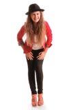 Adolescente elegante de risa Fotografía de archivo libre de regalías