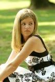 Adolescente em um vestido Imagens de Stock Royalty Free