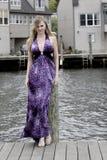 Adolescente em uma doca Fotos de Stock Royalty Free
