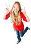 Adolescente emocionado Imágenes de archivo libres de regalías