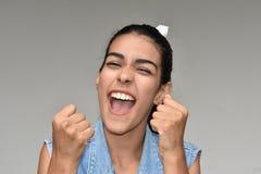 Adolescente emocionado de la muchacha Fotografía de archivo libre de regalías