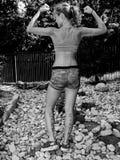 Adolescente en actitud de motivación Fotografía de archivo libre de regalías