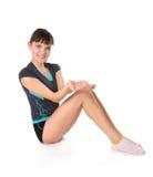 Adolescente en actitudes de la gimnasia Fotografía de archivo libre de regalías