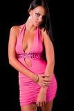 Adolescente en alineada rosada Foto de archivo