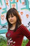 Adolescente en amor Fotos de archivo