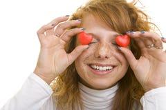 Adolescente en amor Imagen de archivo libre de regalías