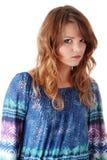 Adolescente en azul Fotos de archivo libres de regalías