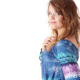 Adolescente en azul Fotografía de archivo libre de regalías