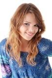 Adolescente en azul Foto de archivo