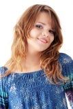 Adolescente en azul Imagen de archivo libre de regalías