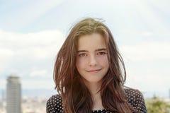 Adolescente en Barcelona Imagenes de archivo