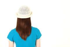 Adolescente en camisa azul Fotos de archivo libres de regalías