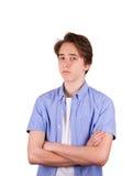 Adolescente en camiseta azul Imágenes de archivo libres de regalías