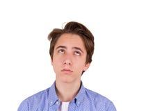 Adolescente en camiseta azul Imagenes de archivo