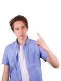 Adolescente en camiseta azul Fotografía de archivo libre de regalías
