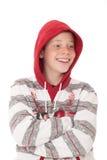 Adolescente en capo motor Fotos de archivo libres de regalías