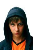 Adolescente en capo motor Imagen de archivo