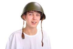 Adolescente en casco Fotos de archivo libres de regalías