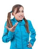 Adolescente en chaqueta azul Fotografía de archivo