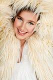 Adolescente en chaqueta de la piel Fotografía de archivo libre de regalías