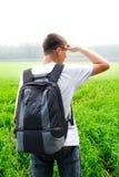 Adolescente en el campo Fotos de archivo libres de regalías