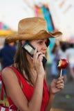 Adolescente en el carnaval Foto de archivo