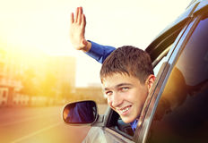 Adolescente en el coche Fotografía de archivo libre de regalías