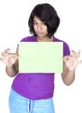 Adolescente en el fondo blanco Foto de archivo
