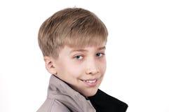 Adolescente en el fondo blanco Imagen de archivo libre de regalías