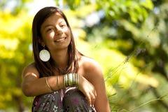 Adolescente en el parque Imagen de archivo
