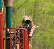 Adolescente en el parque -6 Foto de archivo libre de regalías
