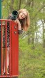 Adolescente en el parque -7 Foto de archivo