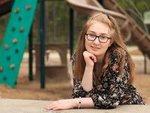 Adolescente en el parque -9 Imagen de archivo