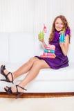 Adolescente en el partido Fotos de archivo