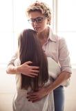 Adolescente en el psicoterapeuta Imágenes de archivo libres de regalías