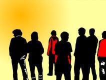 Adolescente en el sol stock de ilustración