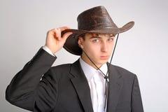 Adolescente en el sombrero de stetson Fotos de archivo libres de regalías
